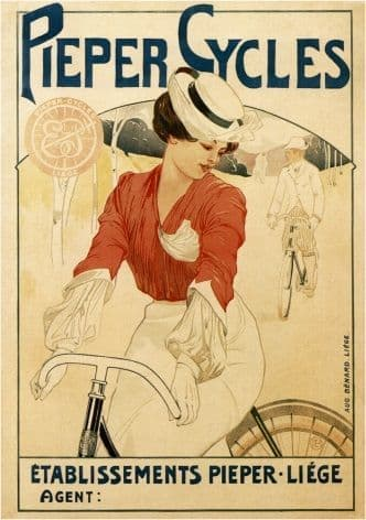 Vintage bicycle advertisment - Pieper Cycles