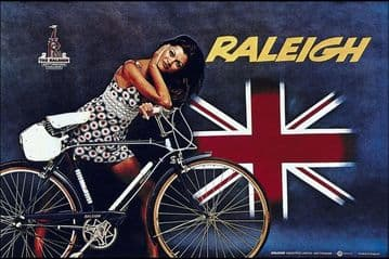 Vintage British advertisment poster - Raleigh