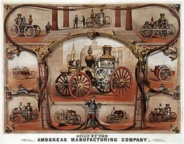Vintage car advertisment poster - Amoskeag manufacturing
