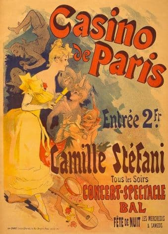 Vintage Casino de Paris Advertisement Poster