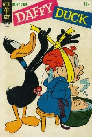 Vintage Children's magazine cover - Daffy Duck