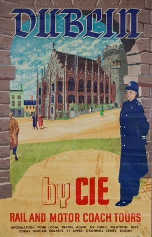 Vintage CIE Dublin Travel Poster