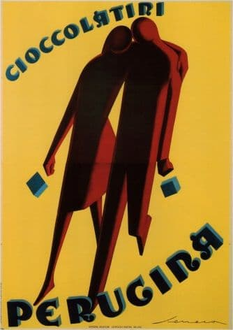 Vintage Cioccolatini Perugina Advertising Poster.