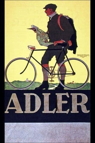 Vintage cycling advertisement poster - Alder