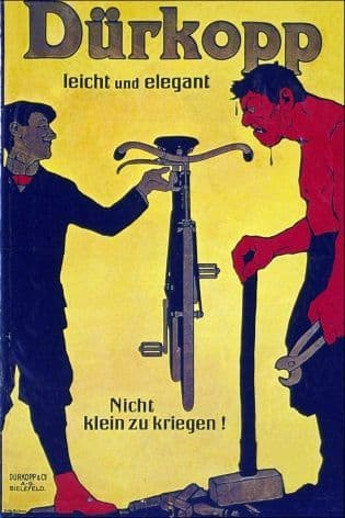 Vintage cycling poster advertisment - Durkopp