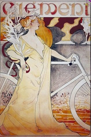 Vintage cycling poster - Clement cycles