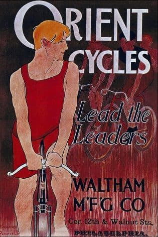 Vintage cycling poster - Orient cycles
