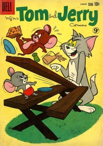Vintage Dell comic book cover - Tom & Jerry
