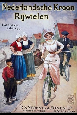 Vintage Ducth cycling poster - Crown Cycles
