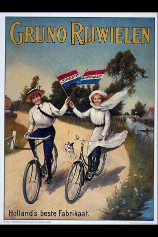 Vintage Ducth cycling poster - Gruno Rijwielen