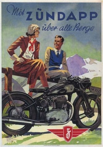 Vintage Ducth motorcycle poster - Zundapp