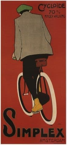 Vintage Dutch bicycle poster - Cycloid