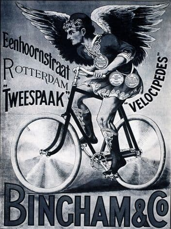 Vintage Dutch cycling poster - Bingham & Co