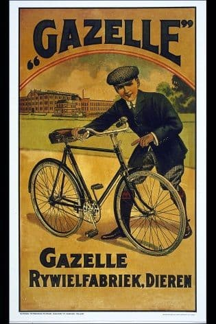Vintage Dutch cycling poster - Gazelle