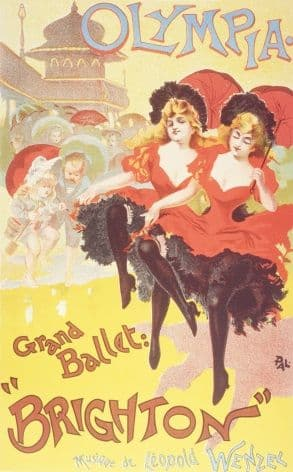 Vintage events poster - Olympia, grand ballet Brighton