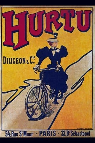 Vintage French cycling advertisement - Hurtu cycles