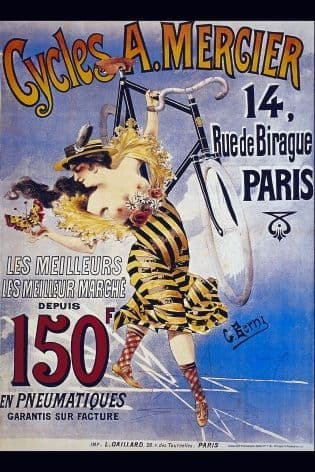 Vintage French cycling poster - A.Mercier cycles