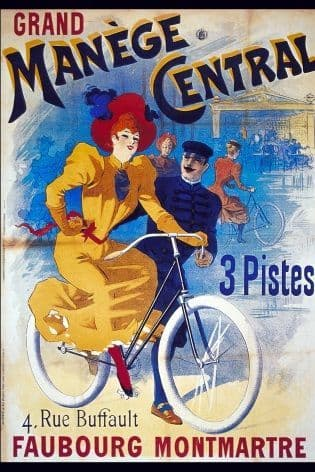 Vintage French cycling poster - Grand Manege Central