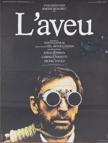 Vintage French movie poster - L'aveu