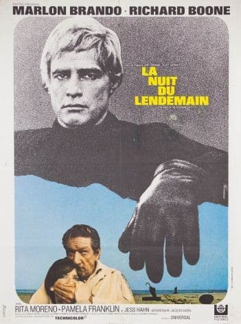 Vintage French movie poster - La Nuit Du Lendemain