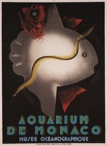 Vintage French poster - Aquarium of Monaco 1926