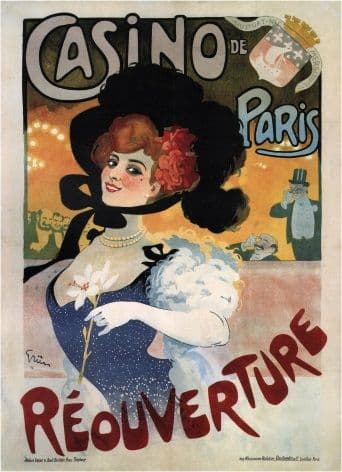 Vintage French poster - Casino de Paris REOUVERTURE