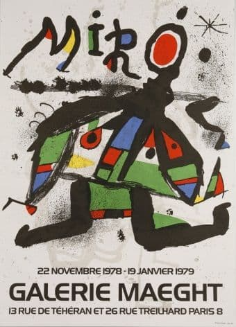 Vintage French poster - Galerie Maeght (1979)