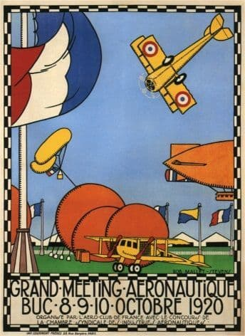 Vintage French poster - Grand Meeting Aeronautique (1920)