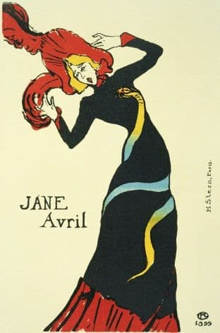 Vintage French poster - Jane Avril