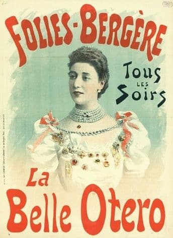Vintage French poster - La Belle Otero