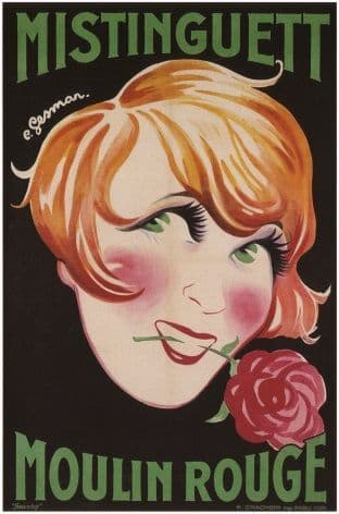 Vintage French poster - Mistinguett Moulin Rouge (1926)