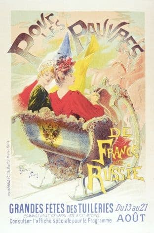 Vintage French poster - Pour Les Pauvres Charity Festival Poster