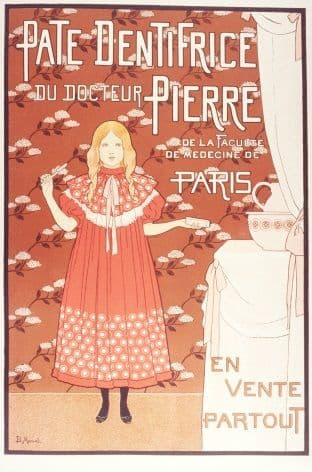 Vintage French toothpaste advertisement - Pate Dentrifice