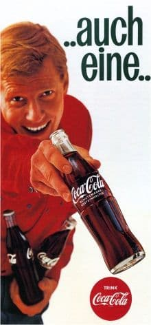 Vintage German Coca-Cola Advertising Poster