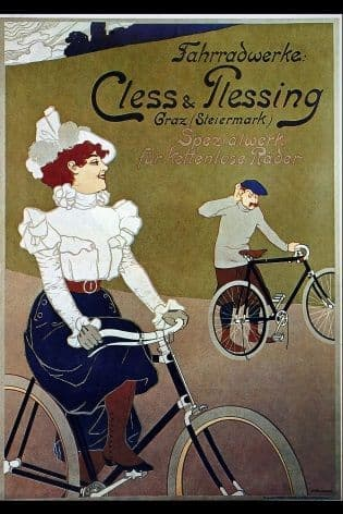 Vintage German cycling repairs poster