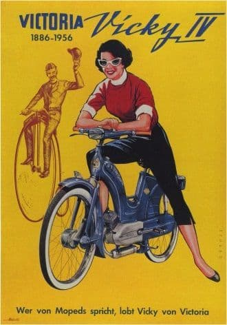 Vintage German motorbike advertisment - Vicky IV