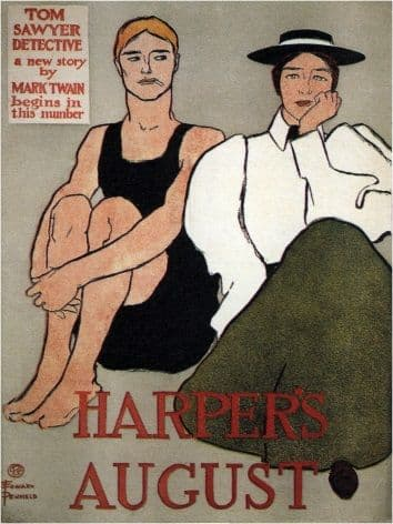 Vintage Harper's August Magazine Cover