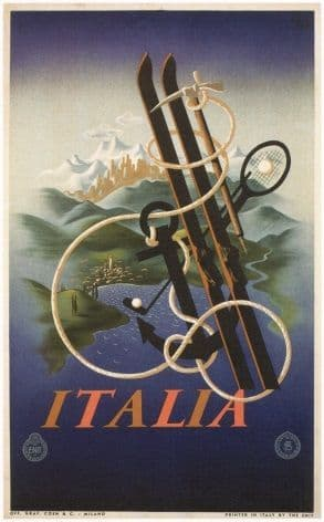 Vintage Italian Sports and Leisure Poster