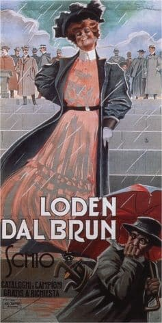 Vintage Loden Dal Brun Schio Advertising Poster
