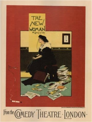 Vintage London theatre poster - The New Woman