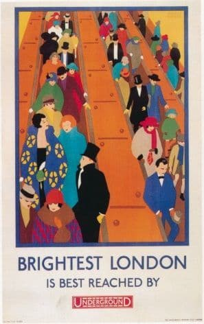 Vintage London Underground poster - Brightest London