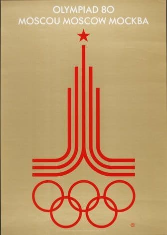 Vintage Moscow Olympic Games poster 1980