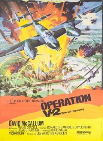 Vintage Movie poster - Operation V2 (Mosquito Squadron)