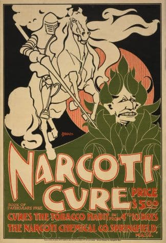 Vintage Narcoti Cure Advertising poster.