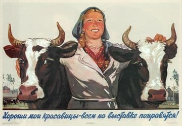 Vintage Russian poster - All my beauties are the best, the whole world will be impressed!