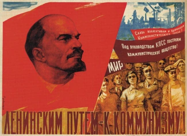 Vintage Russian poster - Lenin's road to communism