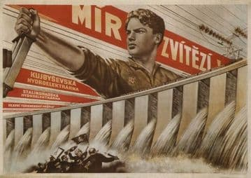 Vintage Russian poster - Peace Wins! 1951