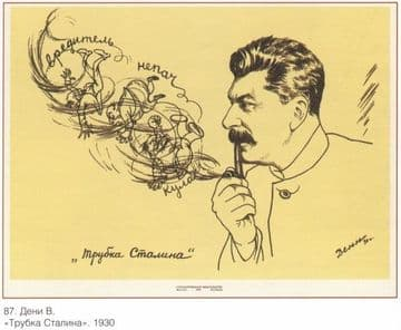 Vintage Russian poster - Stalin 1930