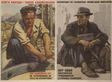 Vintage Russian poster - The well-being of the people 1954