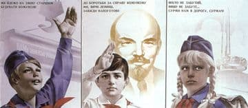 Vintage Russian poster - Young pioneers 1976